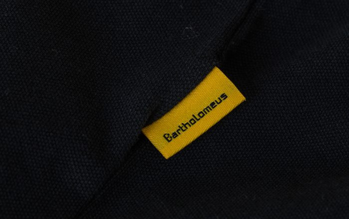 Label in de kraag polo
