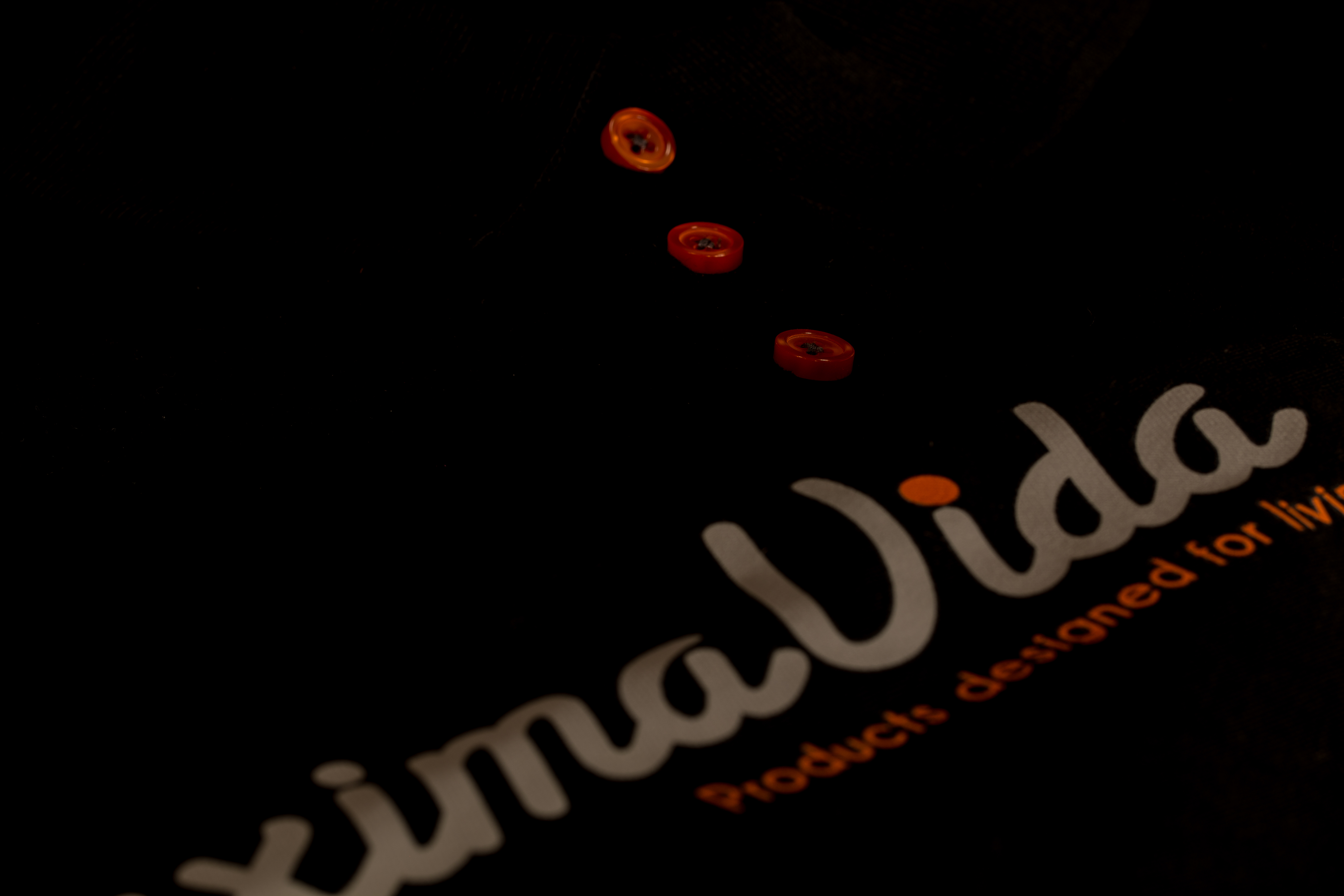 Bedrukte Polo oranje knopen en logo